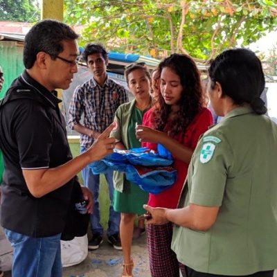 Dr. Noel Alidio, TRF Cadre, on a monitoring visit to Timor Leste